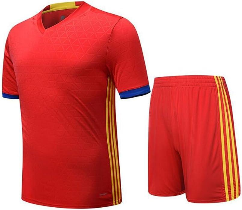 Huicai Hombre Mujer Ropa de Fútbol Camiseta de Entrenamiento de Fútbol de Manga Corta Camisa de Fútbol para Niños Sudaderas y Pantalones Cortos