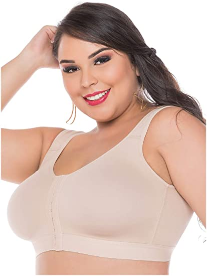 26cd321ac51c8 Fajas Salome Salome 0312 Women Post Surgery Front Fastening Bra Sujetador  Postoperatorio  Amazon.co.uk  Clothing