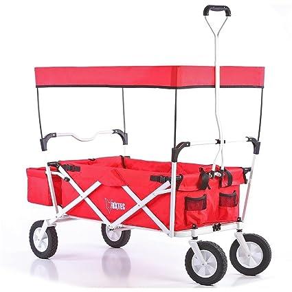 Fuxtec - Carrito de transporte plegable con toldo
