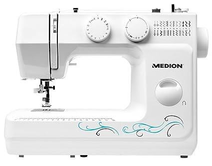 Medion MD 18205 - Máquina de coser de brazo, potencia de 62 W, 60