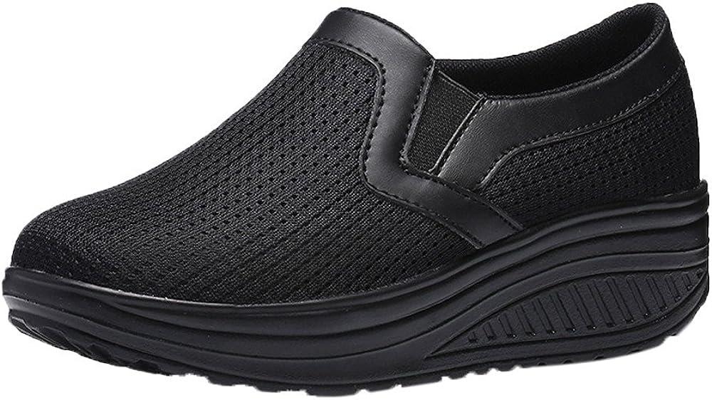 iHAZA Casual Zapatillas Aptitud Zapatos De Las Mujeres Respirable ...