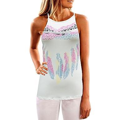 cb8a2372122f21 Staron Women Encounter Sun Change Color Vest T-Shirt Sleeveless Blouse Tank  Tops (S