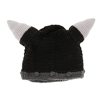 33bd6069a41bc MagiDeal Adults Knitted Beard Mustache Hat Viking Crochet Beanie Hats Caps  Winter Christams Costume - Black  Amazon.co.uk  Clothing
