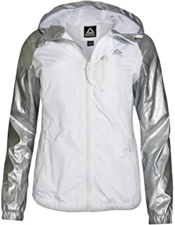 45ea0211b6 Reebok Women's Lightweight Windproof Water-Resistant Hooded Windbreaker  Jacket