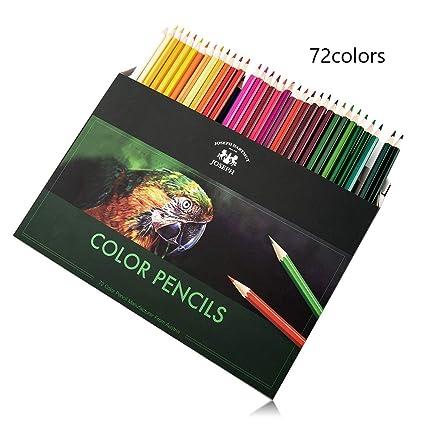 Juego De 72 Lápices De Colores De Tamaño Completo En 72 Colores Lápices De Dibujo De Colores Para Niños Adultos Y Profesionales