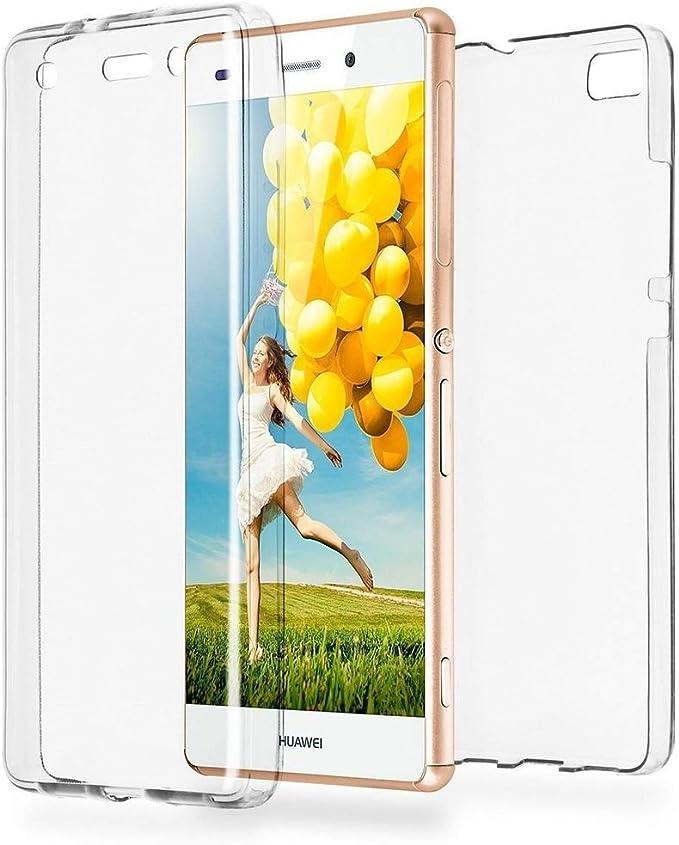 EFConnection Coque Huawei P9 Lite, 360 °Protection Integral Avant Arriere Anti Choc, Housse Etui Gel Transparent pour Huawei P9 (Lite)