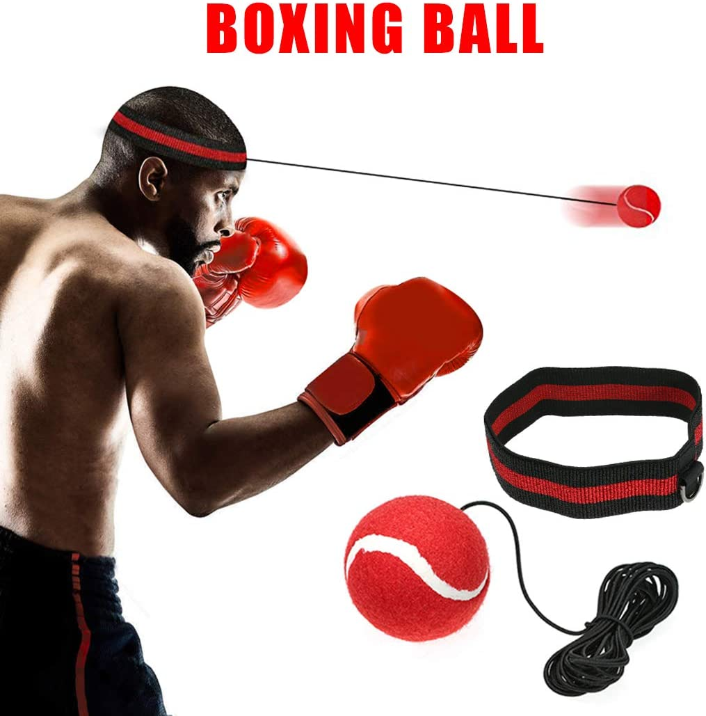 Boxing Reaktion Beweglichkeitstraining Hand Auge Koordinierung Fitness Ausr/üstung 3 Elastisches Seil Coospy Boxen Reflex Ball Set mit 3 Silikon Anti Schwei/ß Stirnband 3 Schlagen Speed Balls