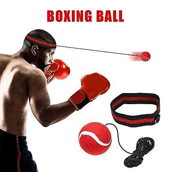 Trainingsgerät Fight-Ball Kampfball mit Stirnband für Boxen Training