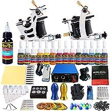 Solong Tattoo® Starter Tattoo Kit 2 Pro Machine Guns 14 Inks Power Supply Foot Pedal Needles Grips Tips Equipment Set TK213
