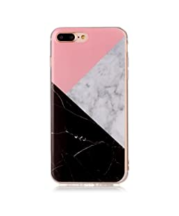 iPhone 7 Plus Case, TIPFLY IMD Marble Pattern Slim-Fit Anti-Scratch Anti-Shock Flexible TPU Gel Soft Shell Back Case for iPhone 7 Plus 5.5 inch - Marble Design #8