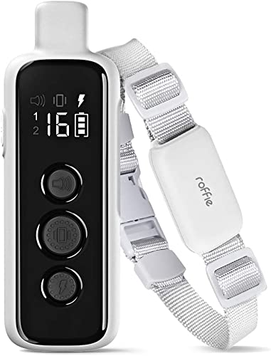 Dog Shock Collar with Remote for Large Medium Small Dogs 3 Training Modes IP66 Waterproof 1000Ft Range Rechargeable Controlling 2 Dogs Safe and Effective Dog Set with Adjustable Shock Levels