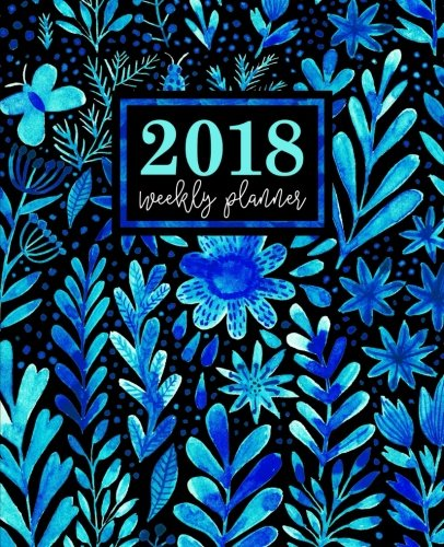 Download Weekly Planner: 2018 Weekly Planner: Portable Format: Blue Watercolor Florals ebook