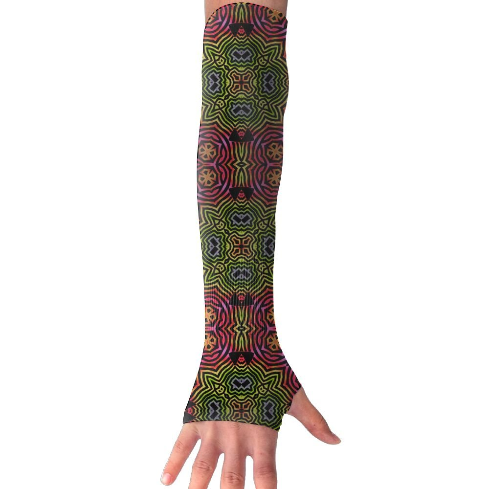 Suining Unisex Psychedelic Digital Art Sense Ice Outdoor Sports Arm Warmer Long Sleeves Glove