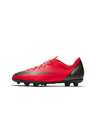 the best attitude 19cce 44f50 Nike JR Mercurial Vapor 12 Club GS CR7 MG Soccer Cleat (Bright Crimson) (