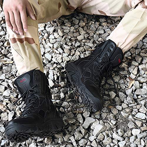 da Calzature ASJUNQ Black Militari Alti Stivali per da Stivali Combattimento Combattimento Workout Desert Stivali Trekking Uomo Uomo Tops da Tattiche da da Training Scarpe qFf5xp