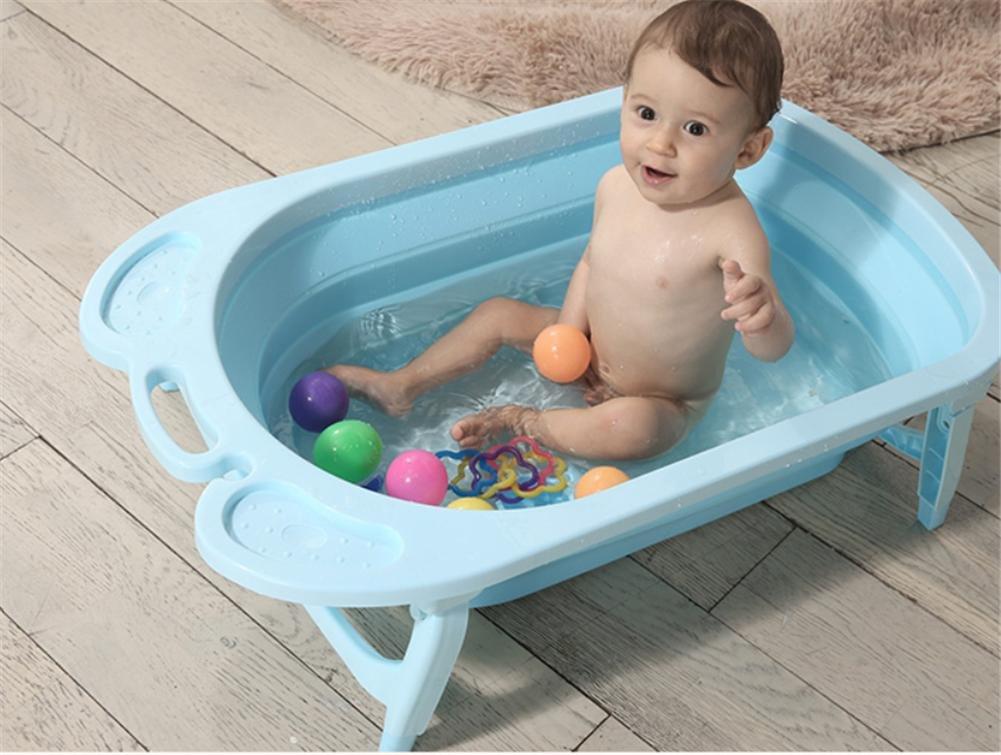 MYMGG Kinder Bad Falten Kann Eine Badewanne Babybadewanne Sein Kann 0-6 Jahre Alt Baby Umweltschutz PP-Kunststoff-Sicherheit ungiftig Größe 81.5x23cm Ein Warmes Bad Gefühl groß für Ein Kind sitzen
