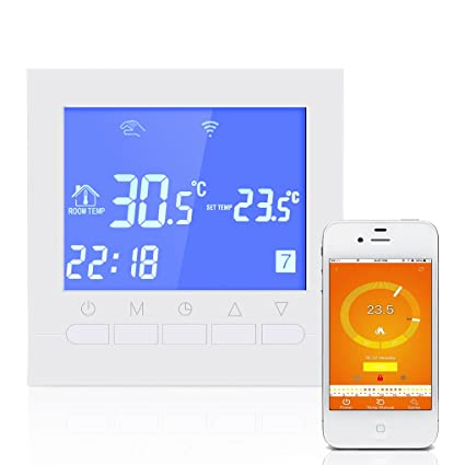 chunyang programable termostato digital WiFi Termostato eléctrica o agua suelo radiante Termostato Con Pantalla Lcd Smart