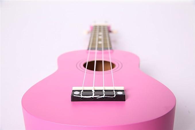 uarashi Soprano rosa madera ukelele Nylon Cuerdas Guitarra ...