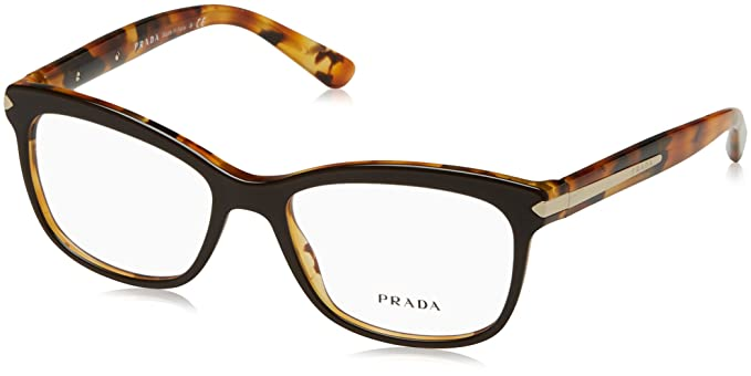 88f3e68dce5 Prada Women s PR 10RV Eyeglasses Top Brown Havana 53mm at Amazon ...