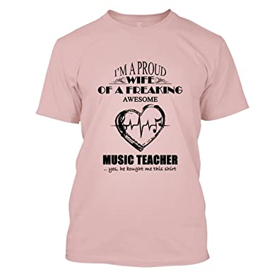 043522630577 BigTees Music Teacher T Shirt - Awesome Music Teacher Cool T Shirts Design  Unisex (S