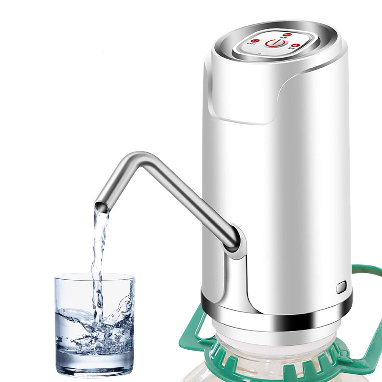 ALLOMN Bomba de Agua Potable, USB Recargable Bomba de la Botella de Agua Portátil Bomba de Botón Portátil Dispensador de Agua para la Cocina de la Oficina ...