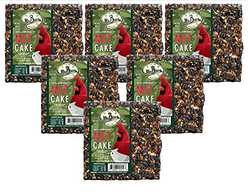 6-Pack of Mr. Bird Wild Bird Nut Cake Wild Bird Seed Cake 8 oz.