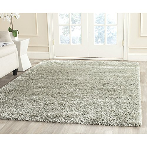 (Safavieh New York Shag Collection SG165-4747 Sage Square Area Rug (4' Square))