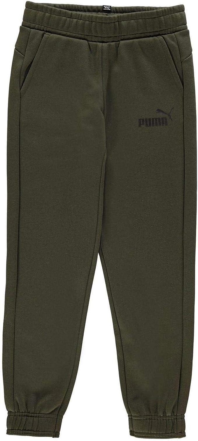 Kids Boys Puma No1 Logo Sweatpants Junior Fleece Jogging Bottoms Drawstring New