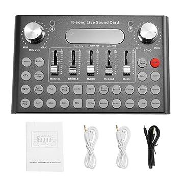 Lopbinte F007 - Tarjeta de Sonido Profesional para micrófono ...