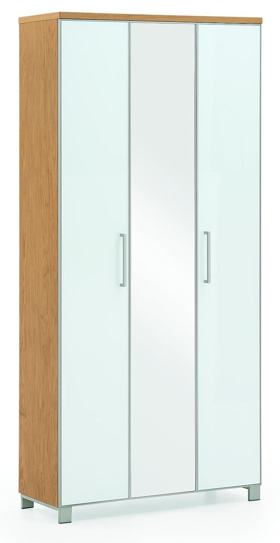 Voss-Möbel Dielenschrank SANTINA 90x193x37cm in der Farbe Optiweiß
