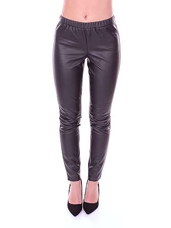 ea6fb9f70b3c9b Michael Michael Kors Womens Faux Leather Skinny Leggings at Amazon ...