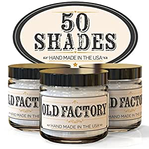 Scented Candles - 50 Shades - Set of 3: Leather, Jasmine Bubbles, and Vanilla Sex - 3 x 4-Ounce Soy Candles