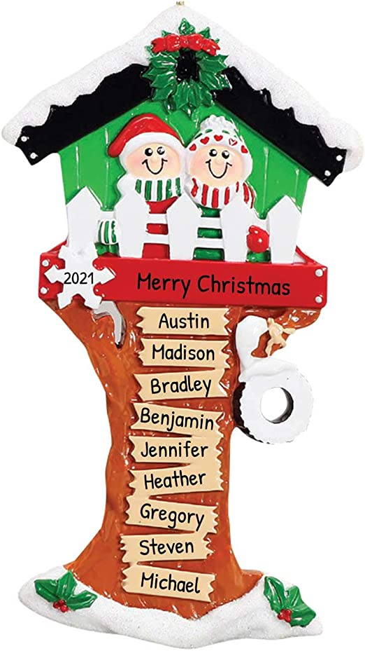 Treehouse Christmas 2020 Hours Amazon.com: Personalized Christmas Tree House Grand Children of 9