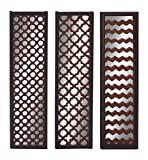 Cheap Deco 79 23710 Wood Mirror Wall Panel, 3 Assorted, 12 by 44″