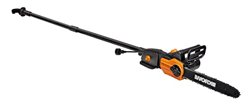 WORX WG309 8 Amp 10 2-in-1 Electric Pole Saw Chainsaw with Auto-Tension