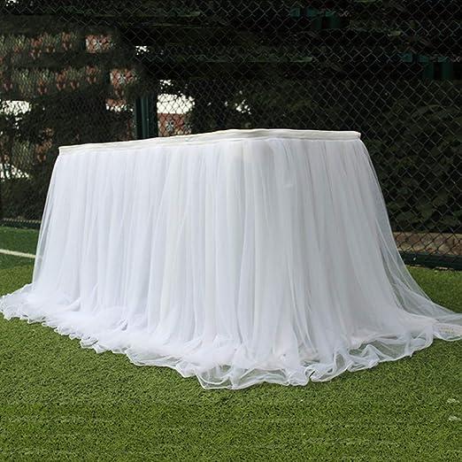 Kicode DIY del mantel de hilo de tul Tabla boda de la falda del ...