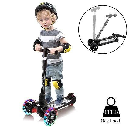Amazon.com: Yoleo Kick Scooters, Scooter para niños altura ...