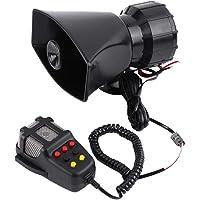 Cocoarm 12V 30W Auto Sirene Lautsprecher 7 Tone Sound Auto Sirene Fahrzeug Horn f/ür die Meisten Motorr/äder Autos Lieferwagen lkw
