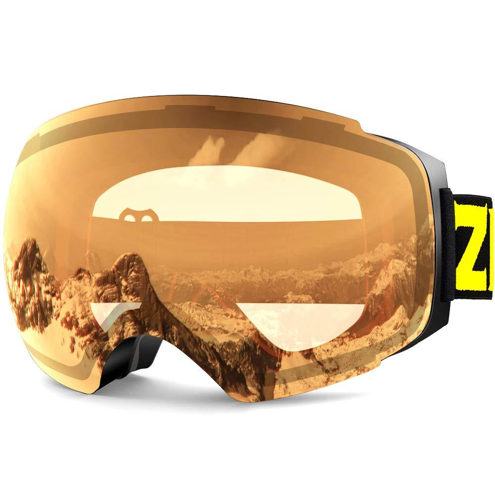 fc6445b0b53e Zionor X4 Ski Snowboard Snow Goggles Magnet Dual Layers Lens Spherical  Design Anti-Fog UV