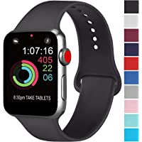 AK kompatibel Apple Watch Armband 42mm 38mm 44mm 40mm, Weiche Silikon Sport Ersatz Armband kompatibel iWatch Series 5, Series 4, Series 3, Series 2, Series 1 S/M M/L