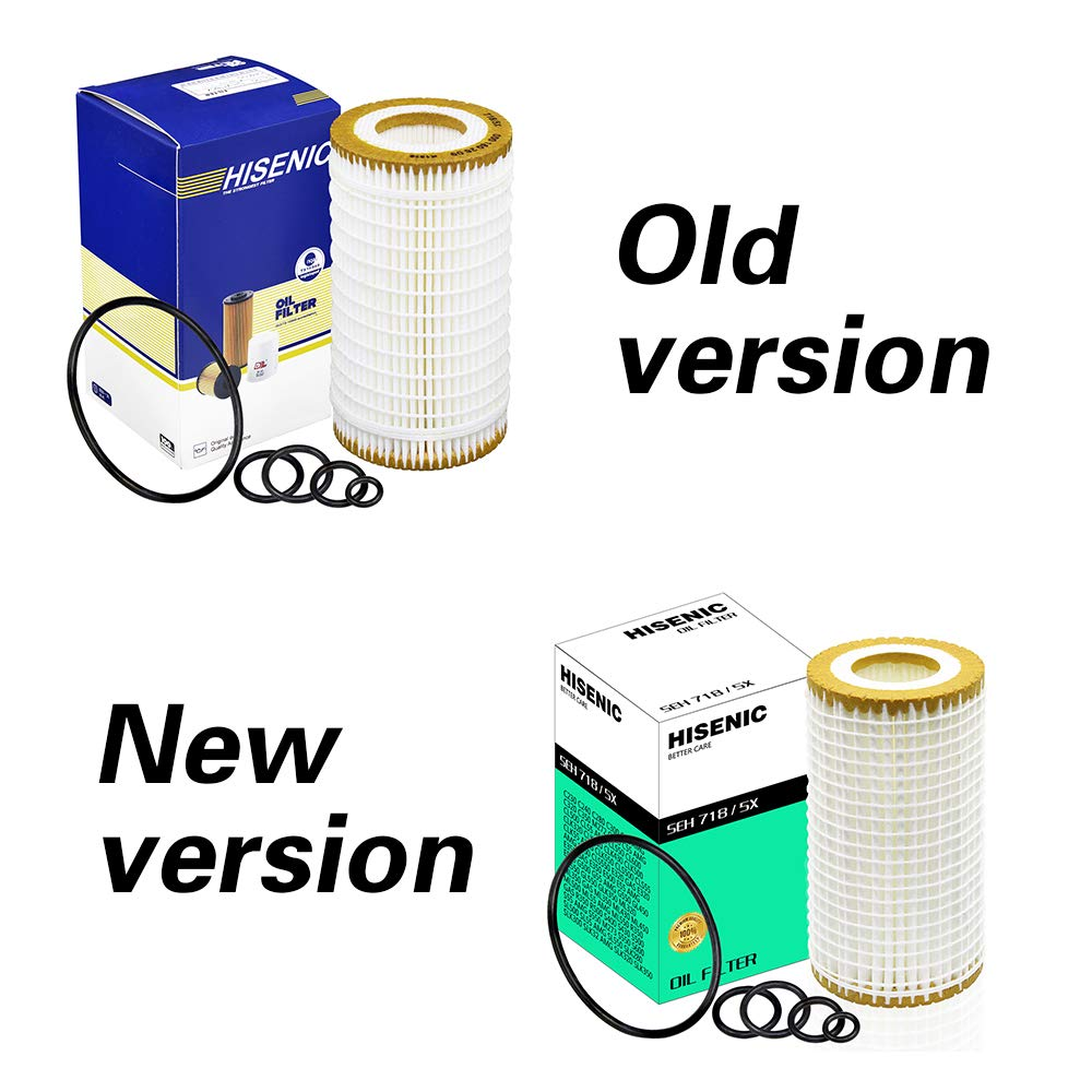 Mercedes Benz C240 E320 Oil Filter hu 718//5x Metal Free Replace Mann Filter hu718//5x Used for Benz Engine C230 C300 C32 AMG C320 C350 E500 Hisenic