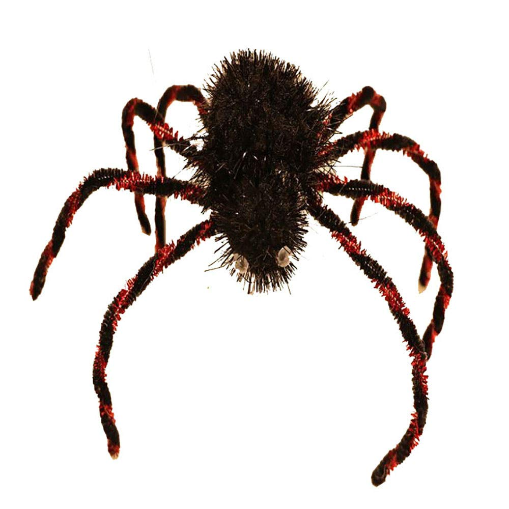 Gbell Halloween Scary Spider - Party Indoor Outdoor Decoration, 1Pcs Haunted House Prop for Masquerades, Balls, Costume Parties, Mardi Gras and More (Black)