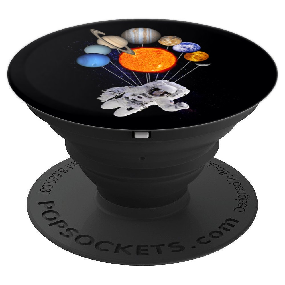 Solar System Sun Planets Milky Way Astronaut PopSockets - PopSockets Grip and Stand for Phones and Tablets