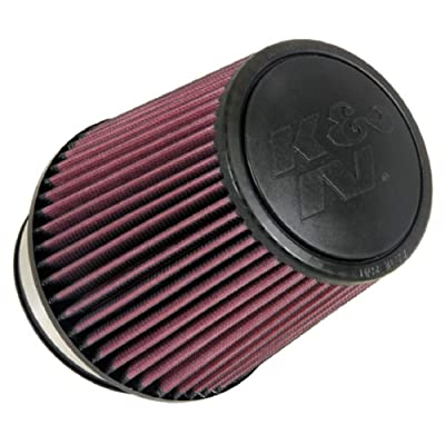 K&N Universal Clamp-On Air Filter: High Performance, Premium, Replacement Engine Filter: Flange Diameter: 4.375 In, Filter Height: 6.5 In, Flange Length: 1.25 In, Shape: Round Tapered, RU-5061: Automotive
