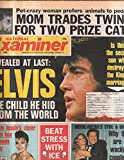 "National Examiner 1986 Aug 12 Elvis,Cybil & Bruce,Dynasty Beauty,""Moonlighting"""