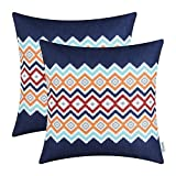 Pack of 2 CaliTime Canvas Throw Pillow Covers - Best Reviews Guide