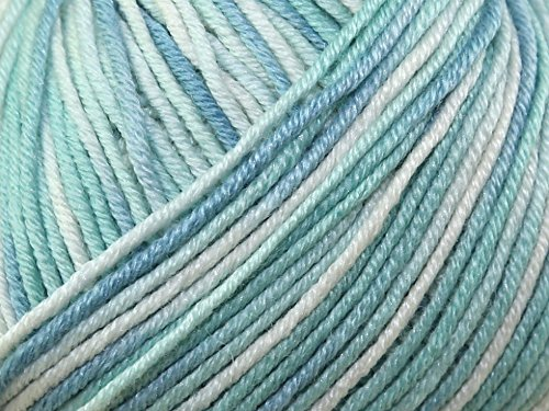 Sublime Baby Cashmere Merino Silk Prints Knitting Yarn DK 567 Under the Sea - per 50 gramme ball