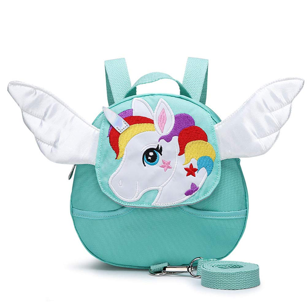 Toddlers Anti-Lost Backpack,Unicorn Child Baby Walking Safety Harness Mini Bag with Safety Leash for 1-3 Years Old Boys and Girls