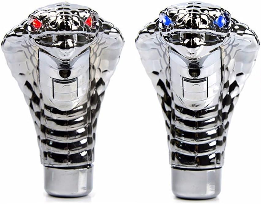 Pommeau de Levier de Vitesse Universel Accessoires de Voiture T/ête de Cobra LED Manuelle//Automatique ACHICOO