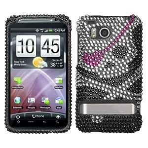 Asmyna HTCADR6400HPCDM012NP Dazzling Luxurious Bling Case for HTC ThunderBolt ADR6400 - 1 Pack - Retail Packaging - Skull